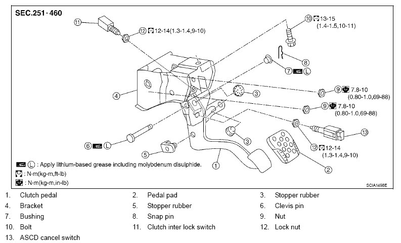 2007 nissan 350z clutch pedal adjustment