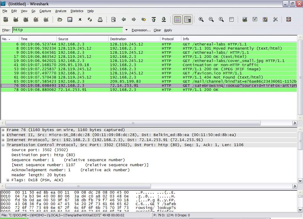 part iii wireshark and konsole