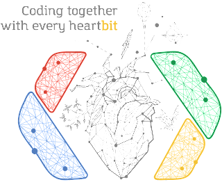 Coding together with every heart-bit!