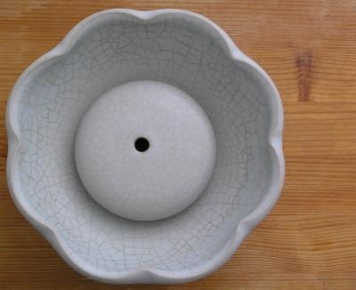 Celadon Lotus Petal Tea Tray