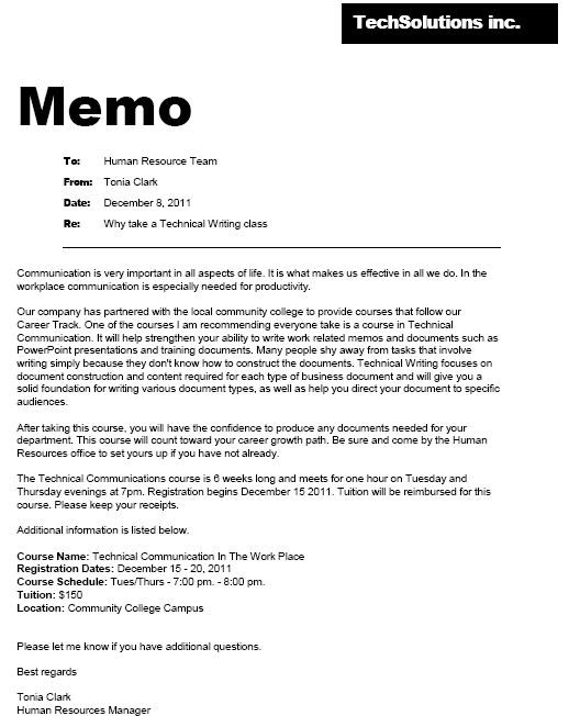 memo business writing course In business writing basics indexcfm/training/seminar/topic/business-writing-basics winning business proposal 9 tips for writing memos that get your point.