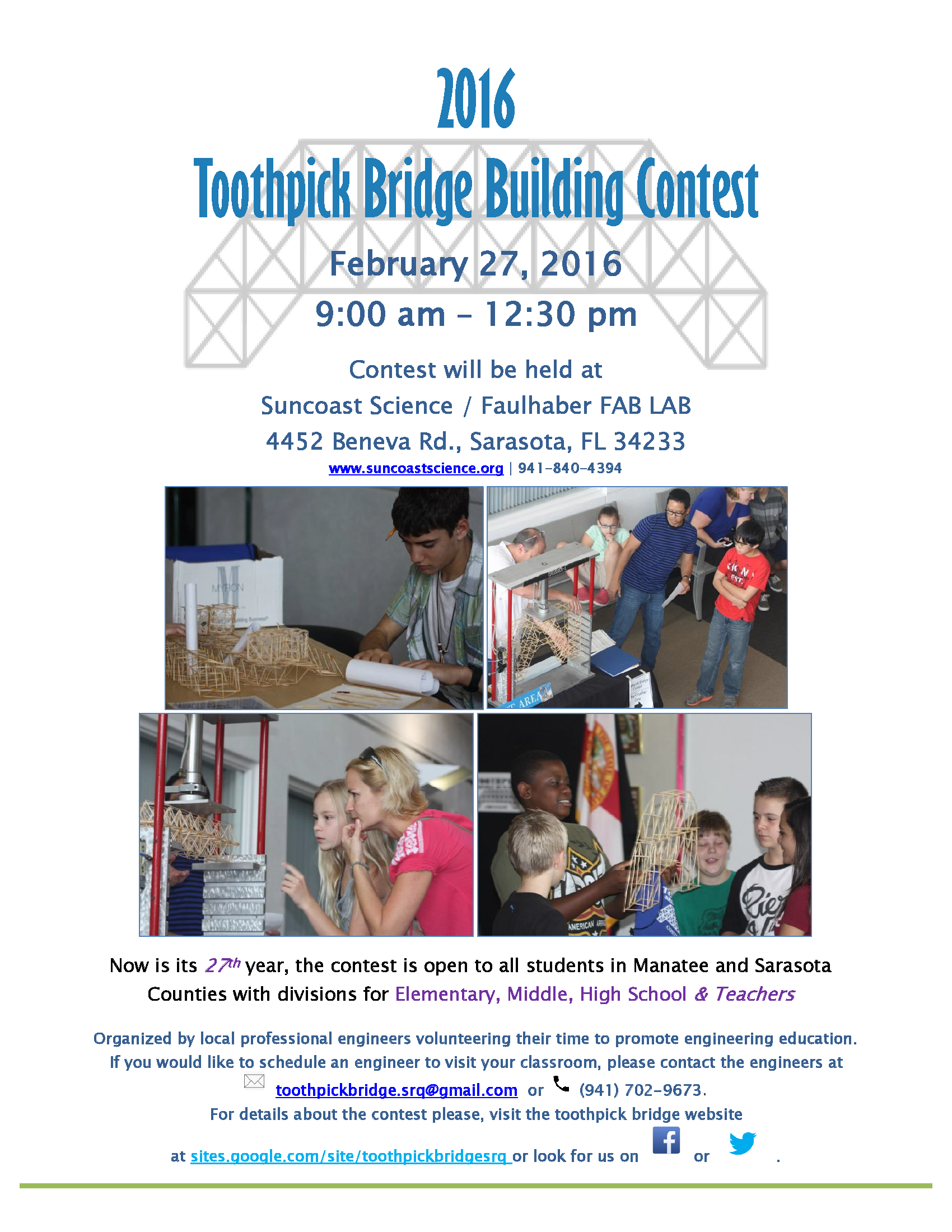 Toothpick Bridge Building Contest