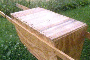 I Made A Kenya Top Bar Hive (KTBH) So The Sides Of My Hive Are Angled Down  To An 11 Inch Width Bottom.