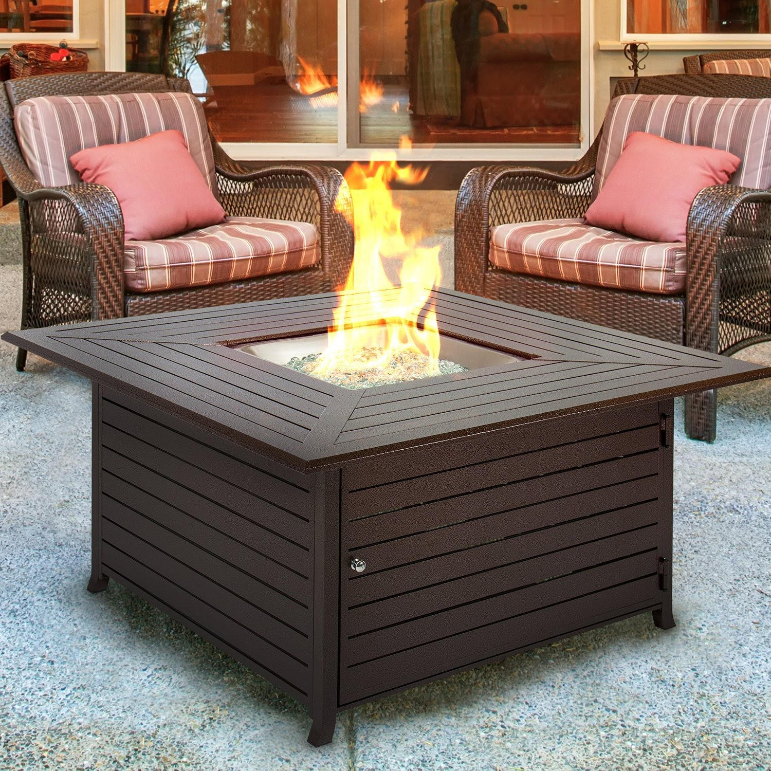 Top Ten Best Gas Fire Pit Tables - Octagon propane fire pit table