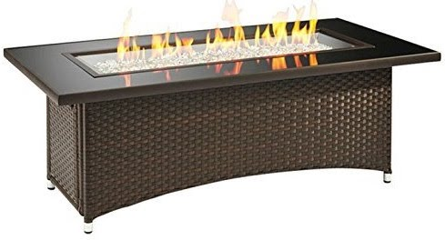 Outdoor GreatRoom Montego Crystal Fire Pit Coffee Table