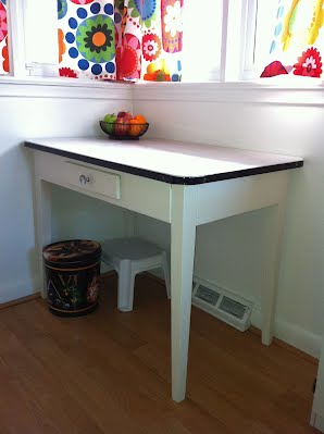 Depression Era Kitchen Table with Enamel Top - Shabby Chic ...
