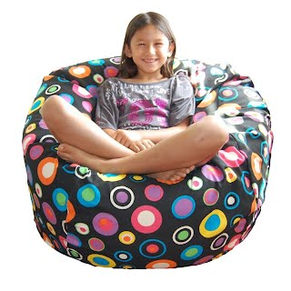 Ahh! Products Bubbly Jelly Bean Cotton Washable Large Bean Bag
