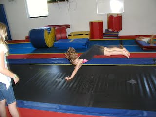 Backhandspring on Tumble Trak