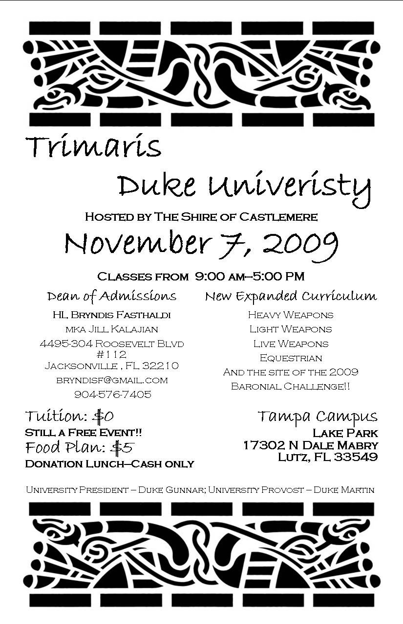 Trimaris Duke University