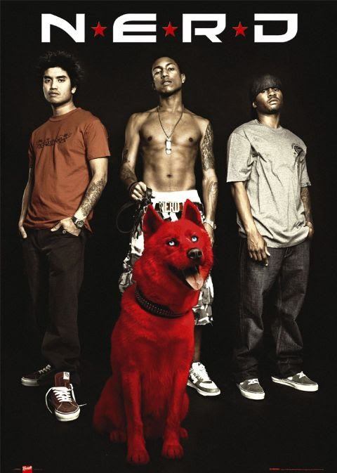 Los integrantes de N.E.R.D.:Chad Hugo, Pharrell Williams y Shae Haley