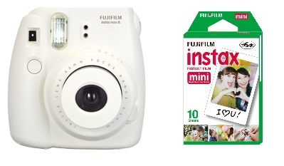 Fuji Instax Mini 8 White Fujifilm Instant Camera 50 Film