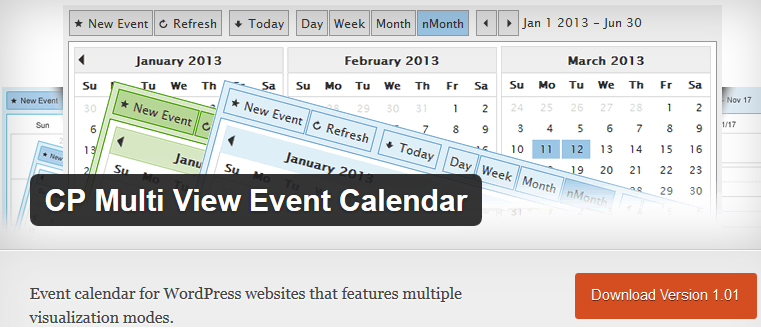 Wordpress CP Multi View Event Calendar