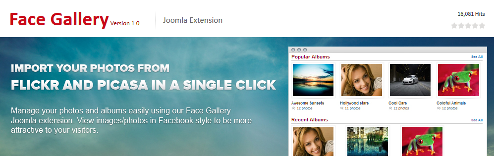 Joomla Face Gallery