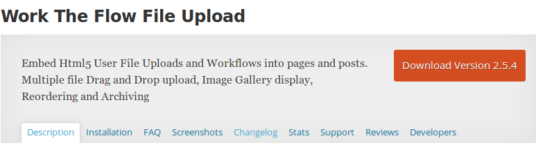 Wordpress Work the flow file upload