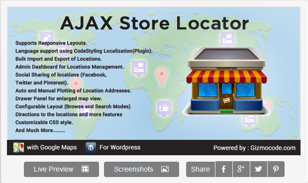 Wordpress Ajax Store Locator