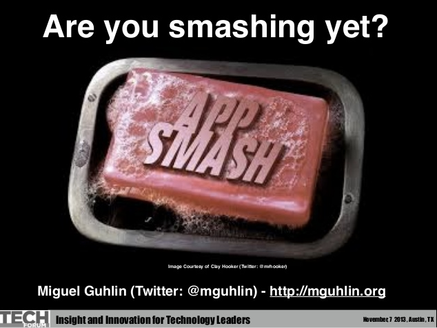 http://www.slideshare.net/mguhlin/techforum-app-smash