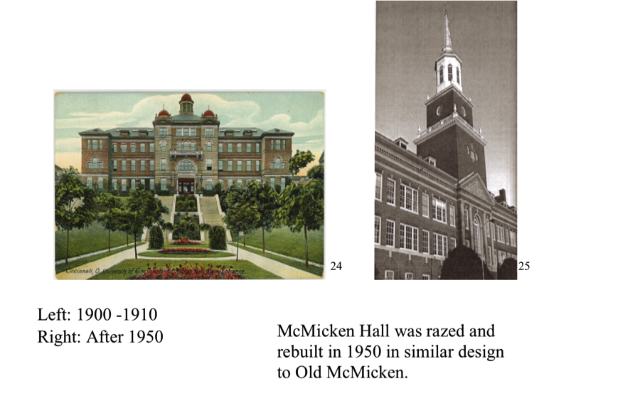 Mcmicken hall uc historical walking tour the statues originally belonged to cincinnati real estate tycoon jacob hoffner26 they are copies of malvernweather Choice Image