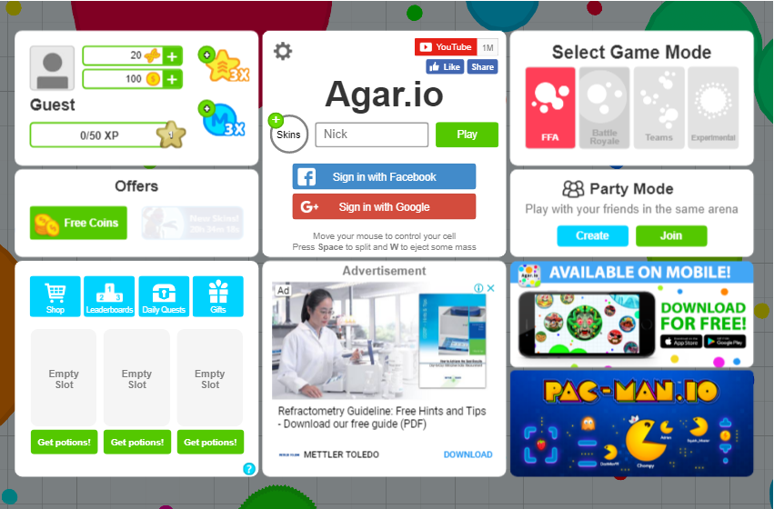 Agar io - Unblocked Games 77