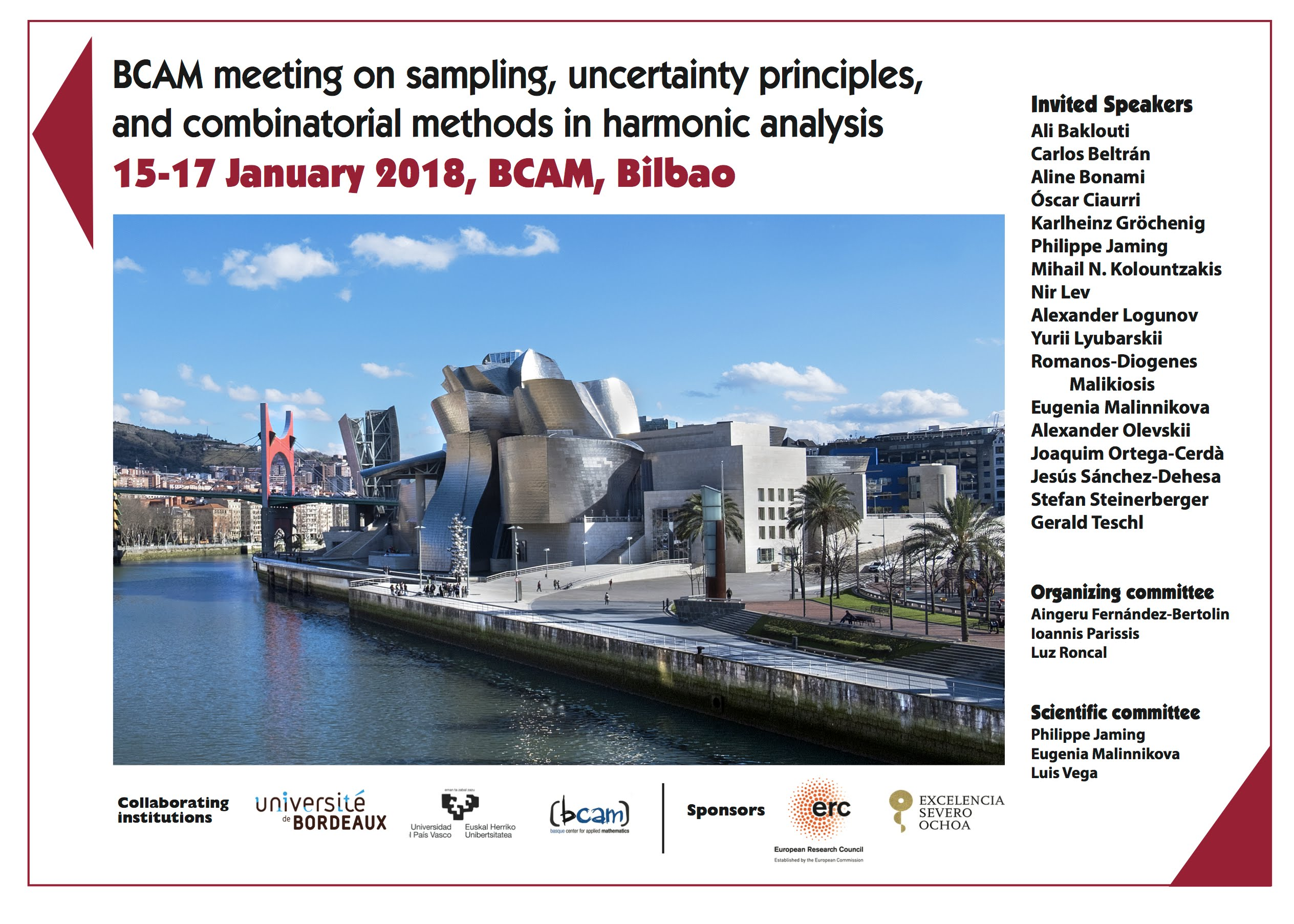 BCAM meeting on sampling, uncertainty principles, and