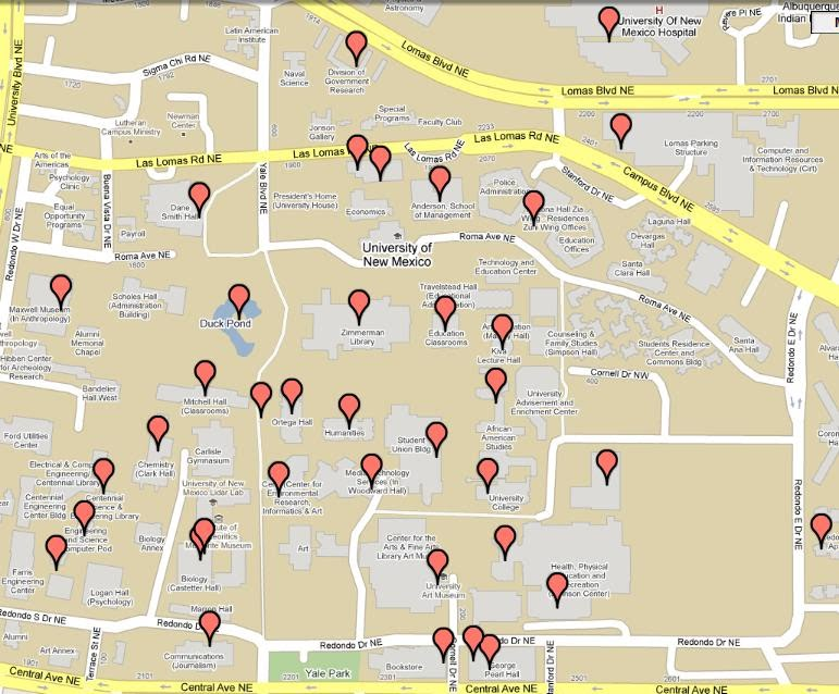 UNM Campus Map   UNM Tour