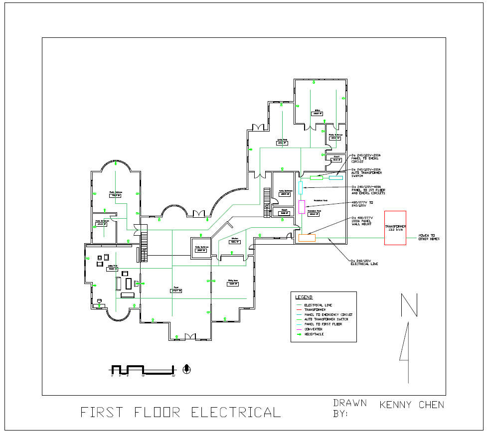 Electrical Single Line Diagram Upscaled Mansion Legend Of Plan First Floor