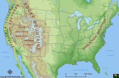Physical Features USA Development - Mountain ranges in the united states