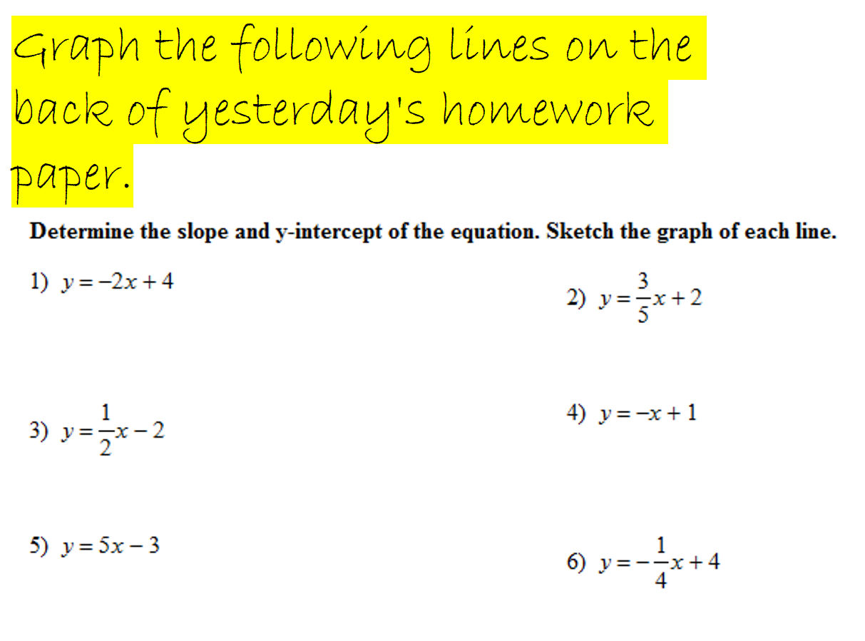 Period 2 2015 uthmans classroom 21 cw graphing lines using a coordinate slope falaconquin