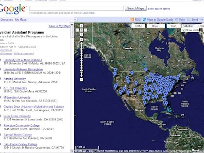 The Map UVU Pre Physician Assistant Club - Map of physician assistant programs in us