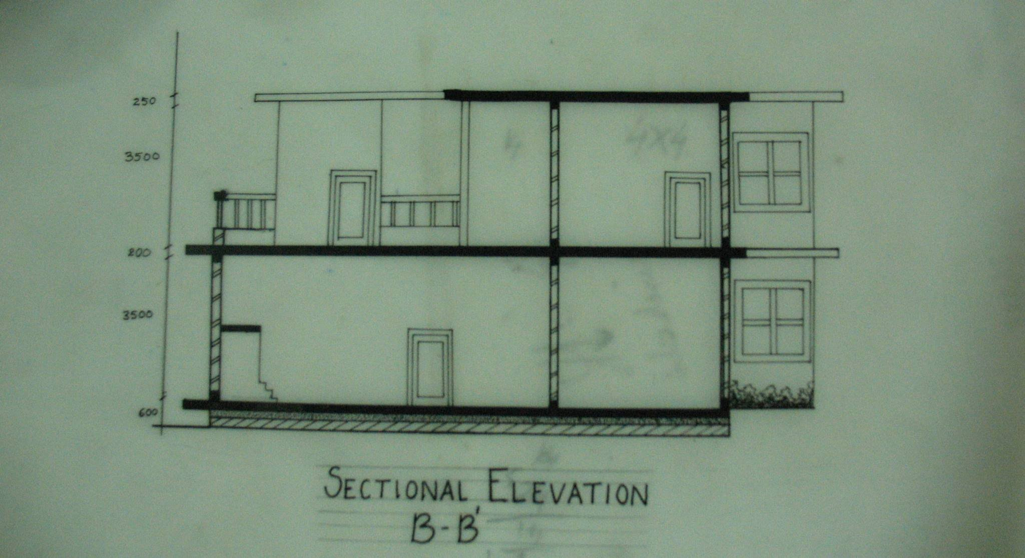 Sectional elevation 1