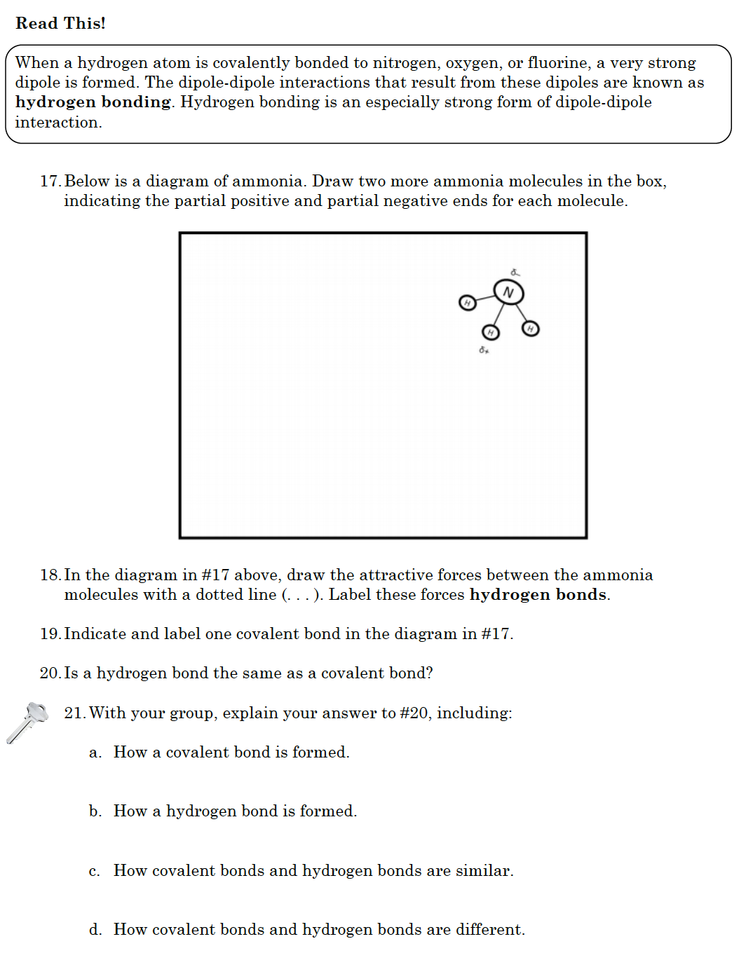 Intro To Intermolecular Forces Pogil Answers - Imf Pogil ...