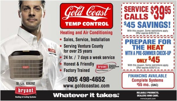 Ventura County Air Conditioning Camarillo Gold Coast Temp Control