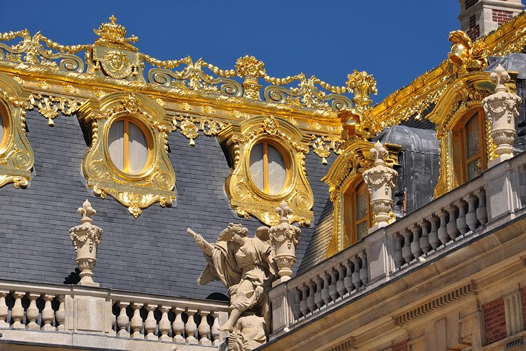 Detail Of A Rooftop 7 The Versailles Palace In France