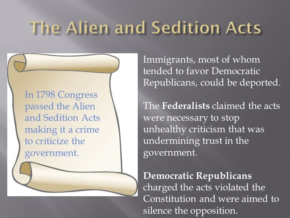 dbq alien and sedation acts of