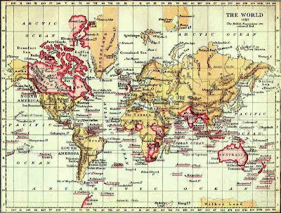 World Maps Victorian Maps Campaigns - Victorian world map