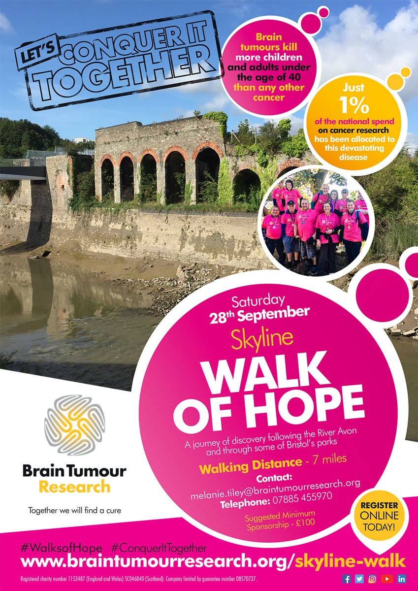 Skyline Walk of Hope for Brain Tumour Research 28th Sept