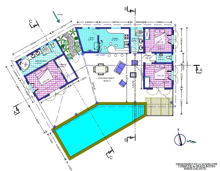 Plan de la villa location villa luxe avec grande piscine for Plans de villa