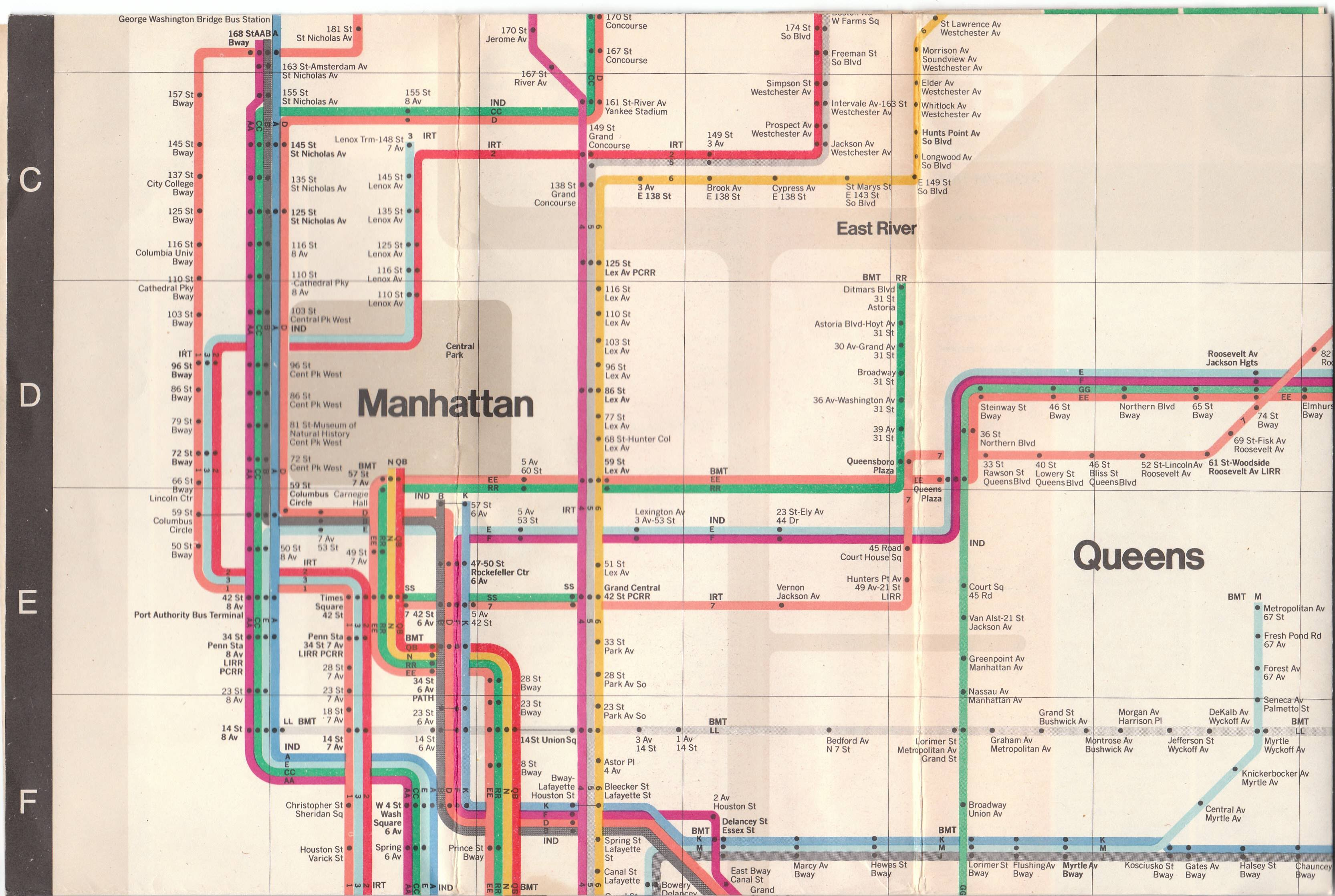 New York City Subway Map Brochure.Aboutthissite Vintagetransitmaps
