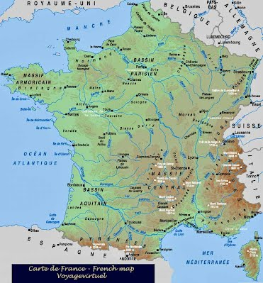 carte ocean atlantique france Vive La France