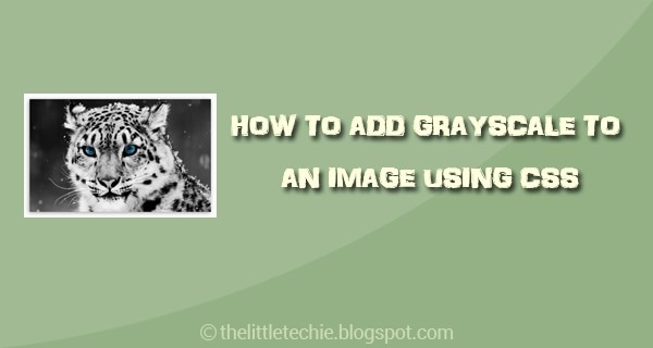 Add grayscale to an image using css
