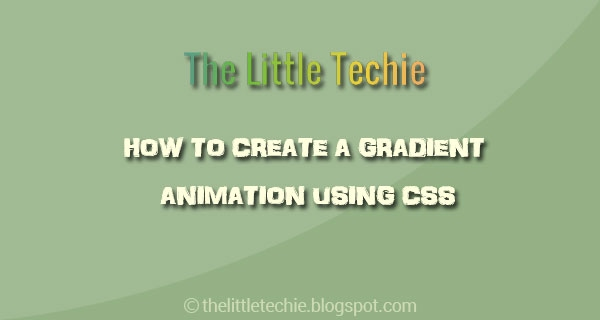 How to create a gradient animation using css