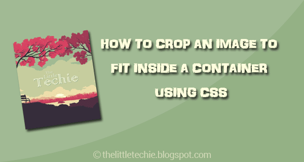 How to crop an image to fit inside a container using css