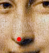 Mona Lisa with pimple on nose