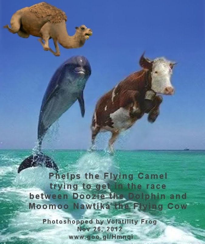 Nov 26, 2012  Phelps the Flying Camel trying to get in the race  between Doozie the Dolphin and Moomoo Nawtika the Flying Cow