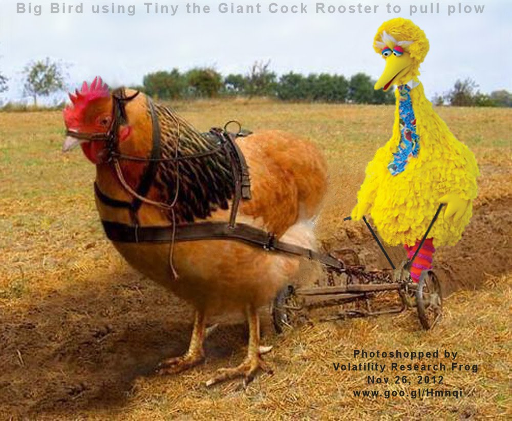 Nov 26, 2012  Big Bird using Tiny the Giant Cock Rooster to pull plow