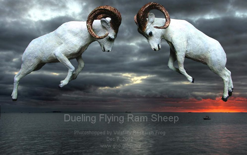 Dec 7, 2012   Dueling Flying Ram Sheep