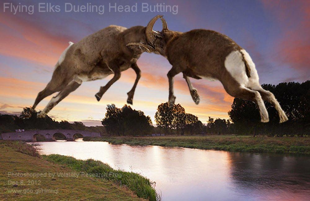 Dec 8, 2012  Flying Elks Dueling Head Butting