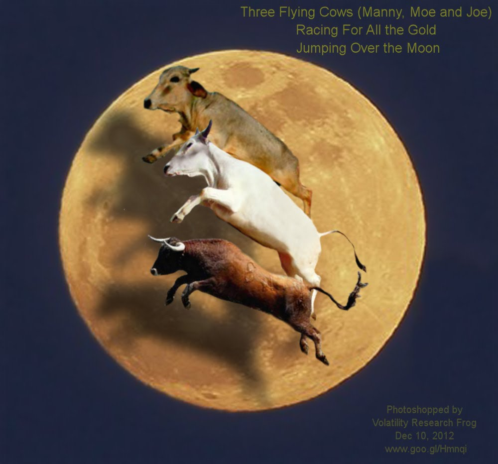 Dec 10, 2012  Three Flying Cows Manny Moe and Joe  Racing For All the Gold Jumping Over the Moon