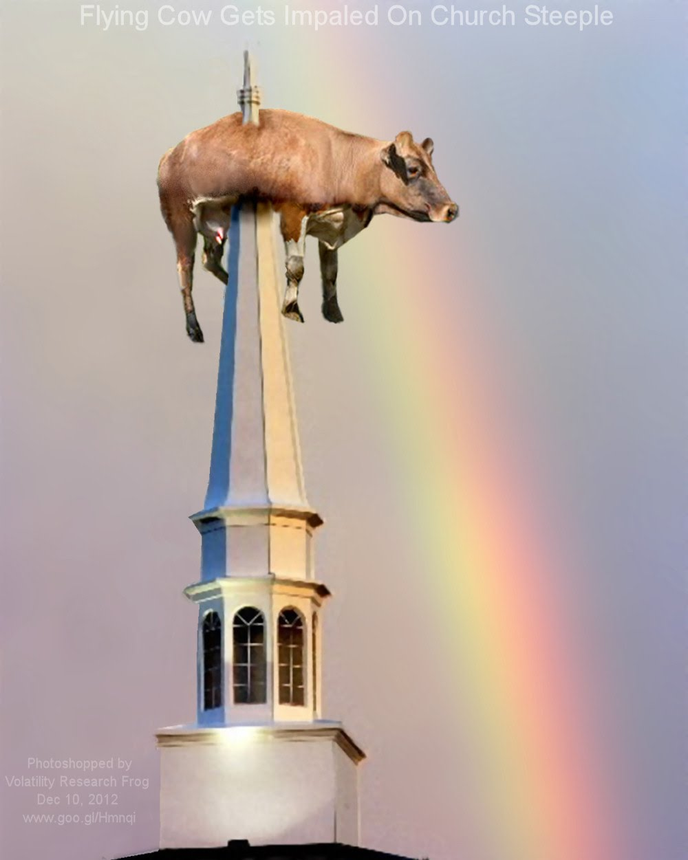 Dec 10, 2012  Flying Cow Gets Impaled On Church Steeple