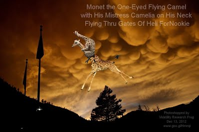 Dec 13, 2012  Monet the One-Eyed Flying Camel with His Mistress Camelia on His Neck Flying Thru Gates Of Hell ForNookie