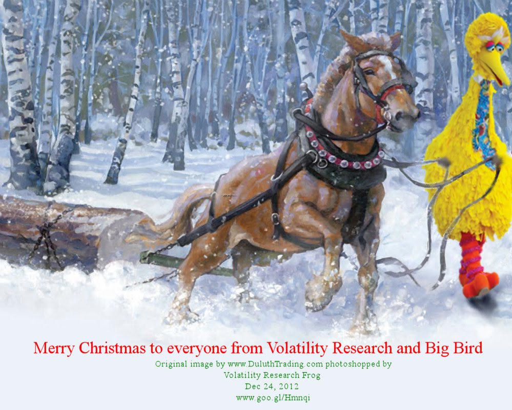 Merry Christmas to everyone from Volatility Research and Big Bird